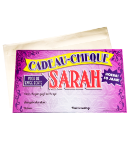 Gift Cheque - Sarah
