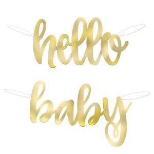 Hello Baby letterslinger papier