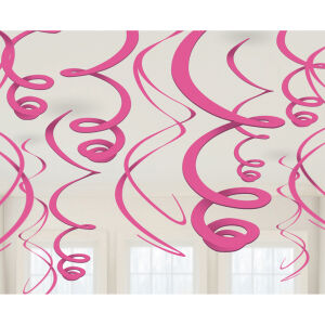 Hangdecoratie folie baby roze