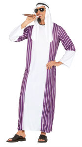 Sheik kostuum voor heren paars