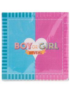 Servetten BOY or GIRL gender reveal