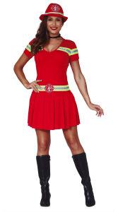 Brandweervrouw kostuum basic