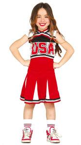 USA Cheerleader kostuum voor meisjes