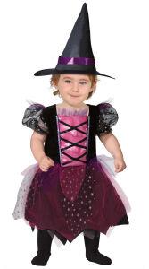 Kleine roze heks kostuum voor baby's