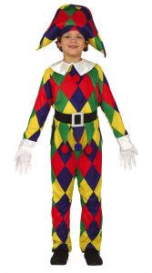 Joker Jester Kostuum voor Kinderen
