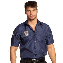 Politie Shirt voor Heren - donkerblauw