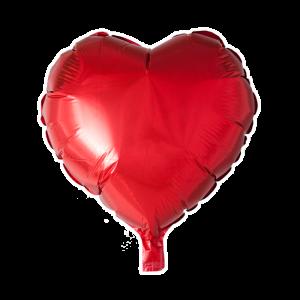 Folieballon hart vorm rood 46cm