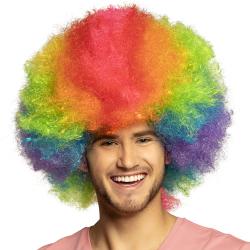 Pruik ''Clown'' Rainbow Deluxe - XL