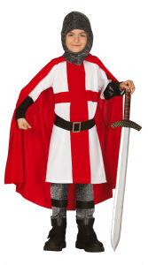 Kruisridder kostuum voor kinderen met cape rood