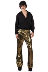 Disco broek goud heren