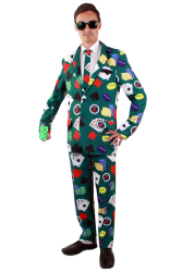 Poker kostuum 3-delig heren