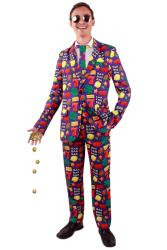 Casino fruit kostuum 3-delig heren