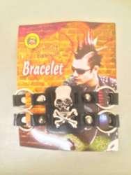 Punk armband met ringen luxe