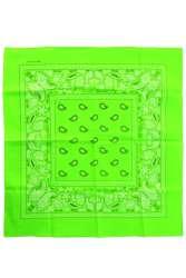 Bandana Fluor groen 53 x 53 cm.