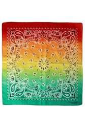 Zakdoek met kleurverloop rood/geel/groen 56 x 56 cm