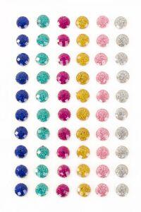 PXP Professional Colours Decoratiestickers rondje glitter 60 stuks assorti