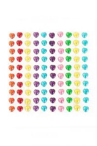 PXP Professional Colours Decoratiestickers hartje pearl 100 stuks assorti