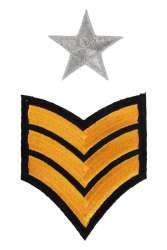 Applicatie army strepen en sterren