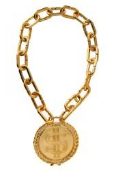 Ketting dollar teken 50 cm. goud
