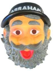 Masker abraham met hoed plastic