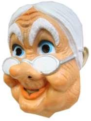 Masker Sarah oudje met bril plastic