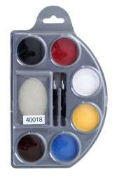 Schmink palet aqua 6 basis kleuren