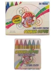 PXP schminkstiften push up EU 6 x 8 gram metallic colours in doos