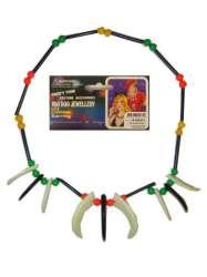 Plastic indianenketting kralen+tanden