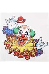 Raamsticker clown 35 x 40 cm.
