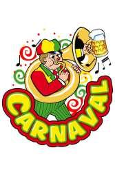 Raamsticker muzikant trombone carnaval