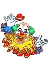 Wanddeco Clown met grote kraag 15 cm