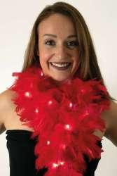 Boa rood met licht 180 cm. 50 gr.