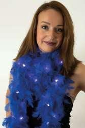 Boa blauw met licht 180 cm. 50 gr.