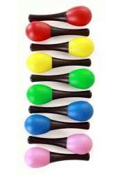 Mini sambaballen per paar assorti kleuren