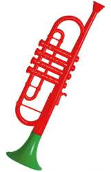 Trompet van Plastic; - rood
