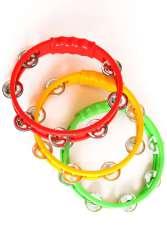 Tamboerijn rood/geel/groen plastic assorti