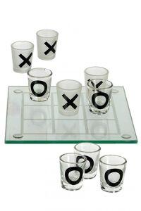 Glazen drinkspel, Tic Tac Toe