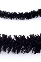 P.V.C. slinger brandvertragend zwart 10m
