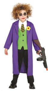 The joker kostuum voor kinderen paars