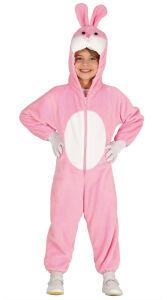 Roze konijn kostuum voor kinderen