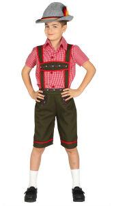 Tiroler jongen kostuum
