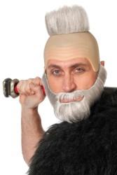 Glatze en baard - grijs