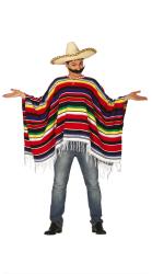 Mexicaanse Poncho voor volwassenen