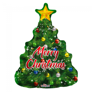Foilballoon XL christmas tree 90cm