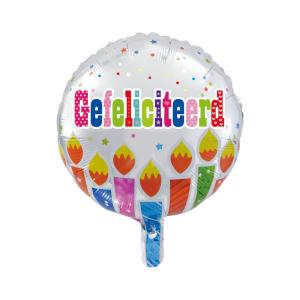 Folieballon Gefeliciteerd 46cm - S40
