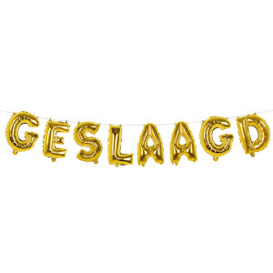 Folieballonslinger GESLAAGD goud