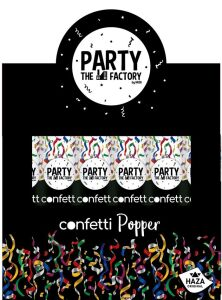 Confetti Popper met multi kleuren