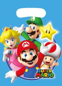 Plastic uitdeelzakjes Super Mario