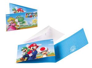 Uitnodigingskaartjes Super Mario