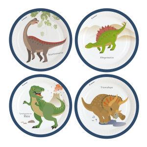 Papieren bordjes Dinosaurus klein